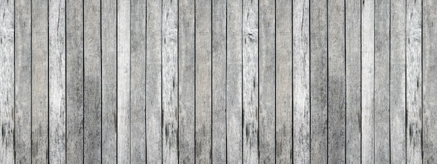 Panorama of gray wood plank sorted background