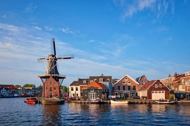 Panorama of harlem, netherlands