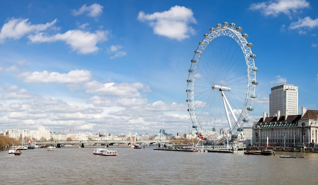 Panorama of london eye