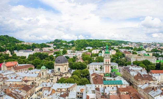 Panorama of lviv.