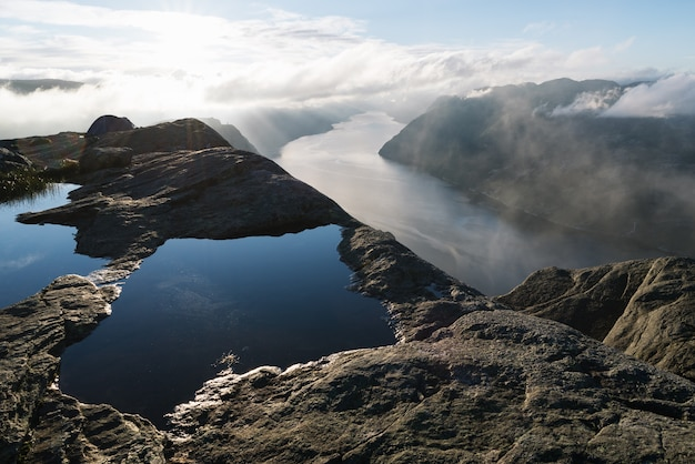 Panorama of lysefjord, norway