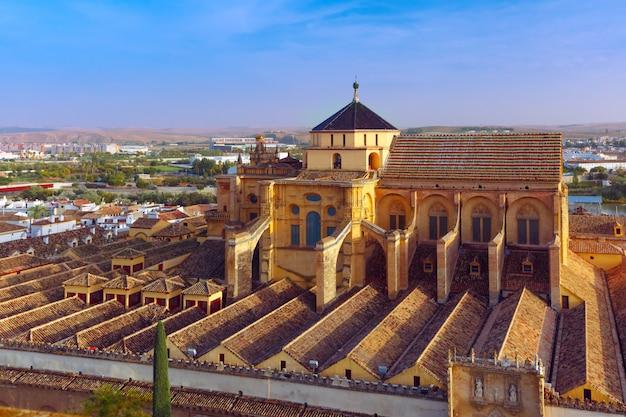 Panorama of mezquita in cordoba, spain