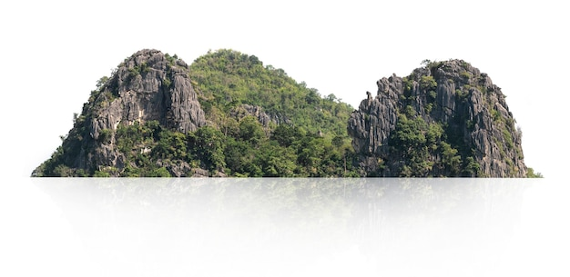 Panorama mountain with tree isolated