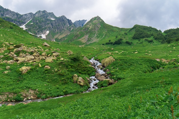Panorama of the mountain