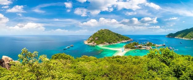 Panorama of nang yuan island, koh tao, thailand
