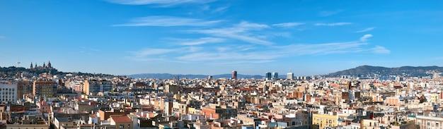 スペイン、バルセロナのパノラマ