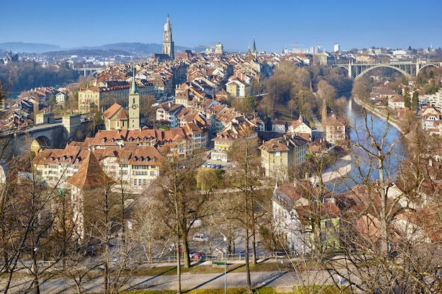 スイス、ベルンのパノラマ