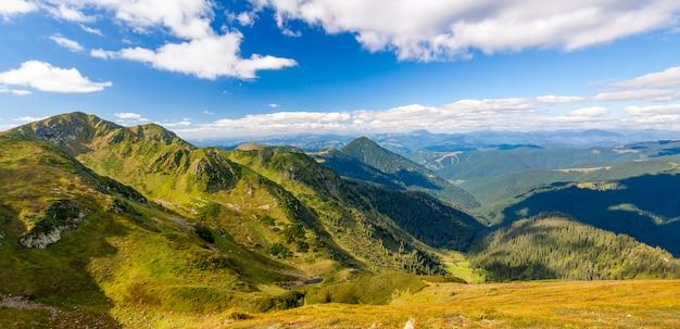 여름 화창한 날에 카 르 파 티아 산맥의 파노라마