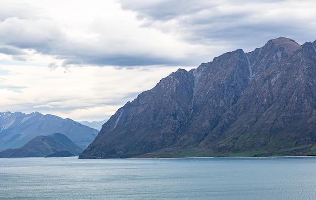 Панорама озера хавеа южный остров новой зеландии