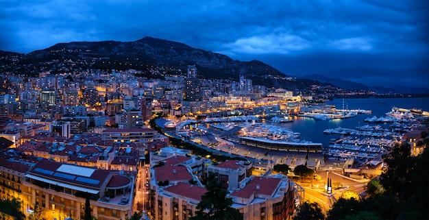 Панорама монако ночью