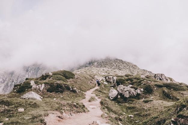 山のシーンのパノラマ、素晴らしいアレッチ氷河を歩き、スイス、ヨーロッパの国立公園でアレッチパノラマウェグをルートします。夏の風景、太陽の光の天気、青い空と晴れた日