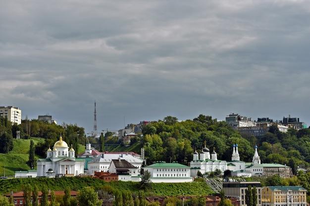 Панорама нижнего новгорода летом