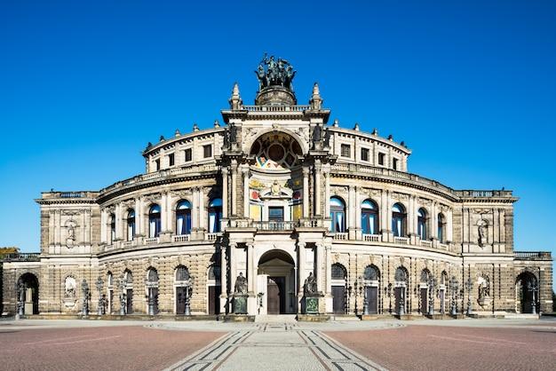 ドレスデンのオペラハウスのパノラマ