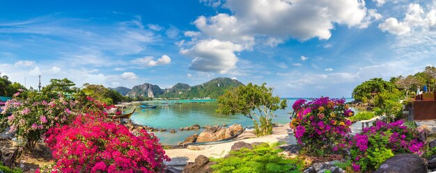 Панорама острова пхи-пхи-дон таиланд