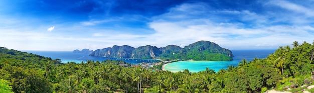 ピピ島、クラビ県、タイ、アジアのパノラマ