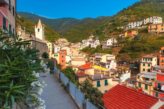 Панорама риомаджоре, чинкве-терре, лигурия, италия