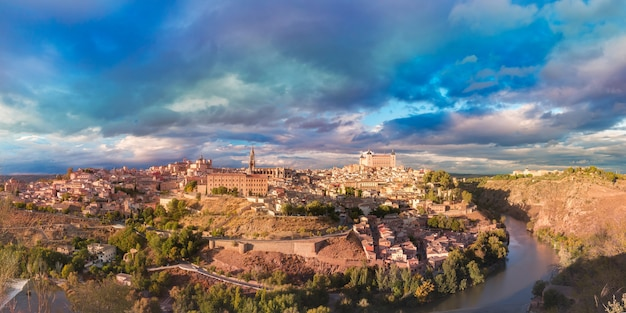 Панорама толедо, кастилья ла манча, испания