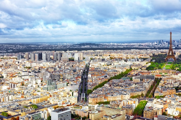 Panorama of paris from the montparnasse tower. france.