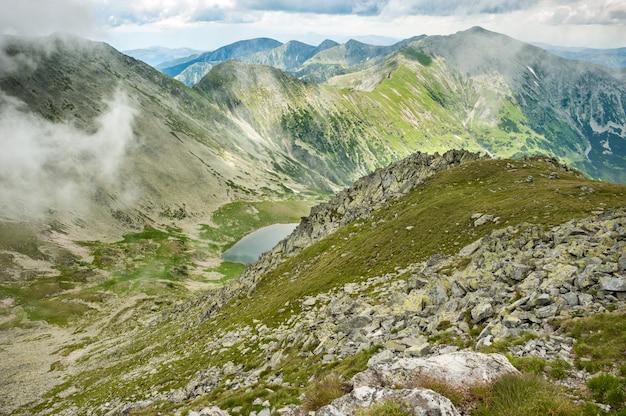 Panorama of retezat mountains, romania