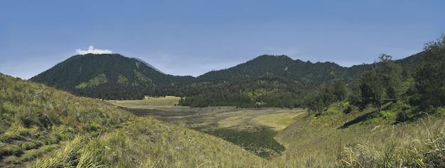 Panorama of semeru mountain view