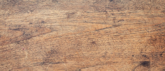 Panorama shot of wood background texture with copy space