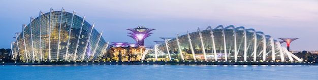 Panorama singapore garden by the bay
