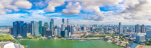 Panorama of singapore in a summer day