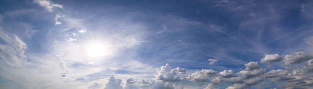 Panorama, sky and clouds in the daytime