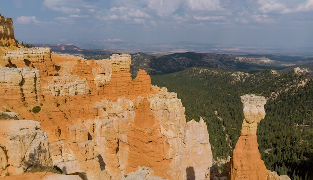 Panorama of summer landscape in zion canyon national park utah