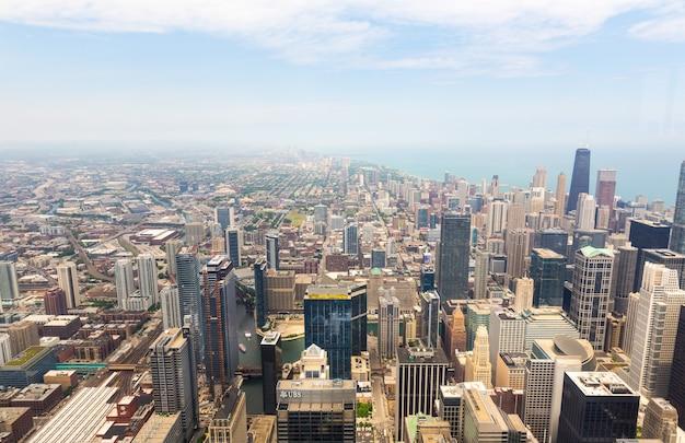 Panorama view of downtown chicago, illinois usa Premium Photo