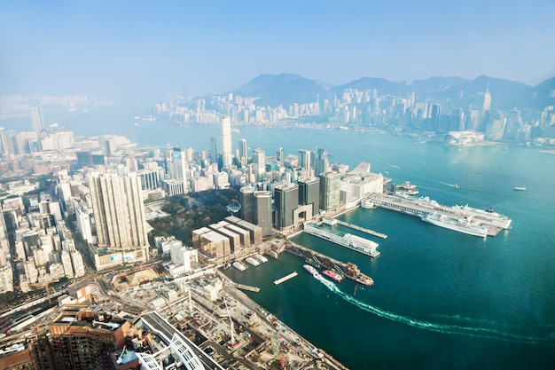 Panorama view to hong kong