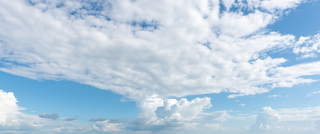 Panorama view of nature sky with clouds background