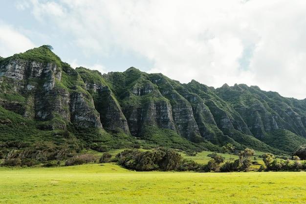 Панорамный вид на горы гавайи