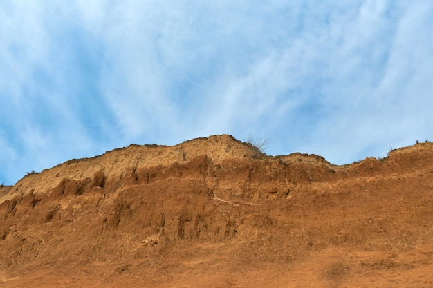 Panorama view of the sandstone formation