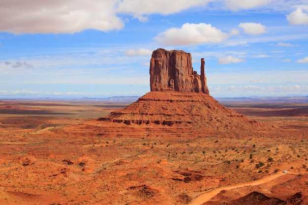 Panorama with famous buttes of monument valley from arizona, usa.