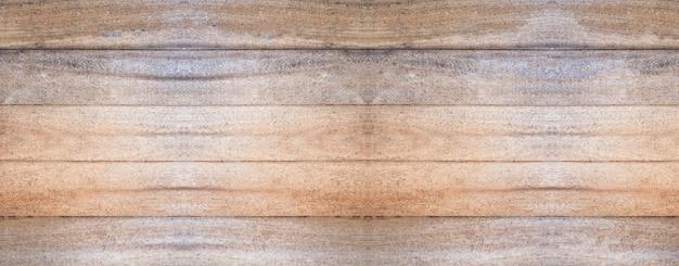 ヴィンテージの茶色の木製テクスチャ背景を持つパノラマ木製の壁