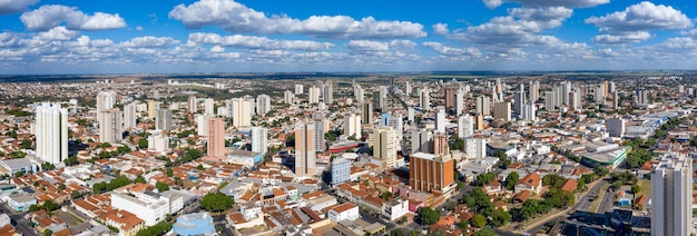 Panoramic aerial view of the city of araçatuba