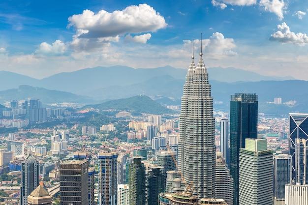 マレーシア、クアラルンプールのパノラマ空撮