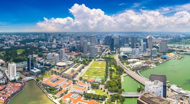 Панорамный вид с воздуха на сингапур
