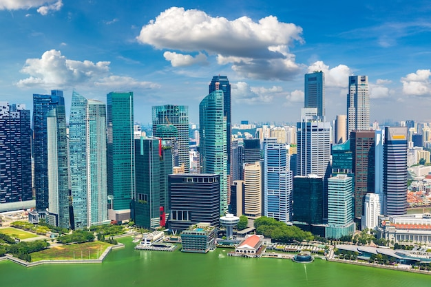 Panoramic aerial view of singapore