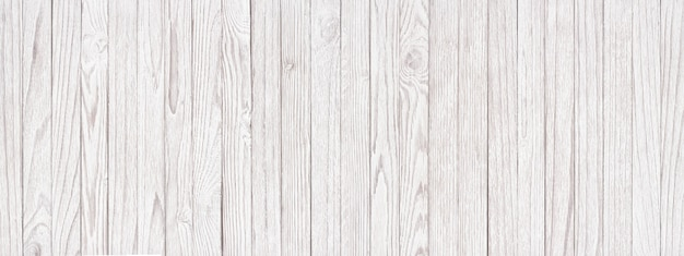 白い木の質感のパノラマの背景、壁紙として明るい板
