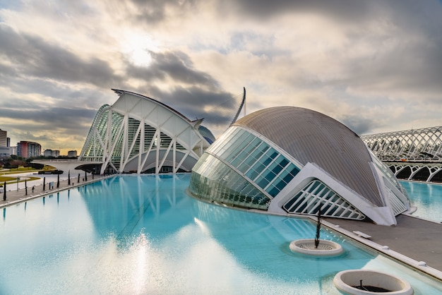 Panoramic cinema in the city of sciences of valencia