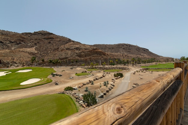 Panoramic golf course in the mountains