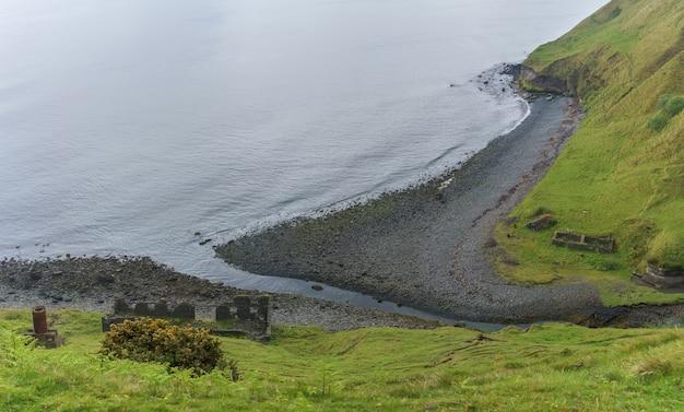 스코틀랜드 lealt skye의 규조토 채굴, cailc의 파노라마 이미지