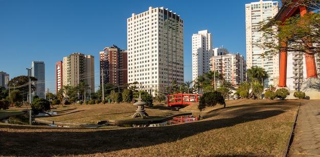 Panoramic of the japanese garden of sao jose dos campos