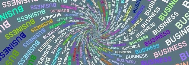 色付きの背景にパノラママルチカラーテクスチャワードビジネス