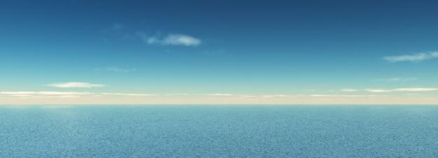 Панорамный вид моря