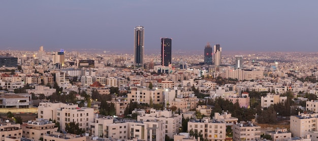 Panoramic shot of the new downtown of amman city the capital of jordan