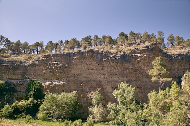 Panoramic of the sickles of the duraton river