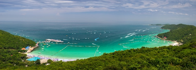 Panoramic view of a beach,thailand